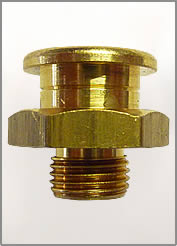 "1/8""-28 BSPP BRASS BUTTON HEAD GREASE FITTING"