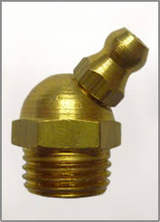 "1/4""-19 BSP 45 DEGREE BRASS GREASE FITTINGS"