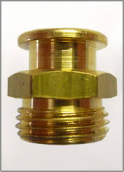 3/8-19 BSPP BRASS BUTTON HEAD GREASE FITTING