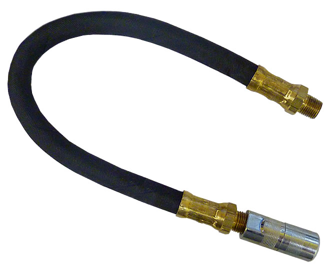 12 INCH GREASE GUN HOSE WITH COUPLER