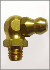 6MM X 1MM 90 DEGREE BRASS GREASE FITTING