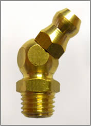 8MM X 1.25MM 45 DEGREE BRASS GREASE FITTING