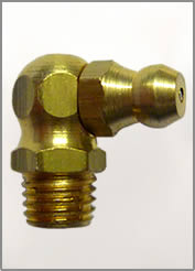 8MM X 1MM 90 DEGREE BRASS GREASE FITTING