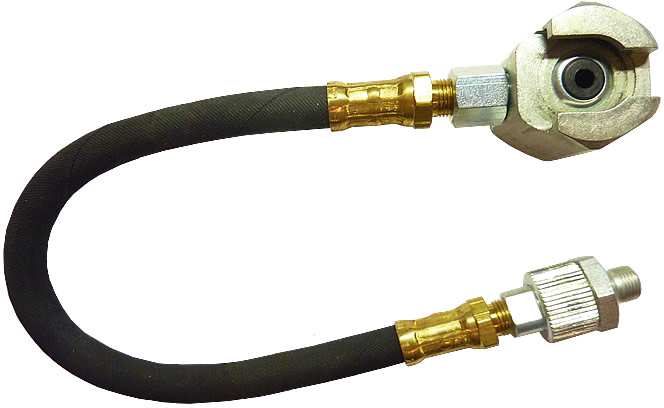 "12"" Hose w/ Swivel & Giant Button Head Coupler"