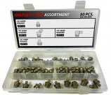50pc BSP Stainless Steel Grease Fitting Assortment