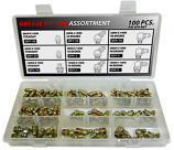 100pc Metric Grease Fitting Assortment