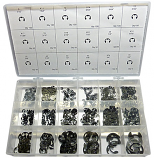 982pc External E-Ring Assortment. Made in The USA.