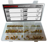 100pc Drive Type Grease Fitting Assortment