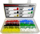 300pc Grease Fitting Cap Assortment
